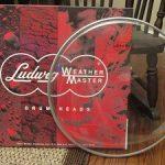 "Пластик д/барабана LUDWIG LW4122, 22""Heavy, надпись Ludwig, прозрачный"