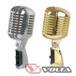 Сценический кардиоидный микрофон ретро дизайна VOLTA VINTAGE SILVER
